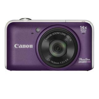 Un Canon CANON PowerShot SX220HS violet à un tel prix  Cest sur