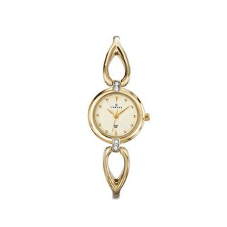 Certus Paris Womens gold tone Brass Crystal Watch MSRP $130.00 Today