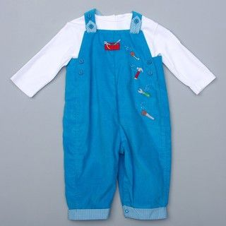 Petit Ami Infant Boys Overall with Tool Applique