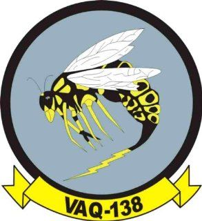 US Navy VAQ 138 Yellow Jackets Squadron Decal Sticker 3.8