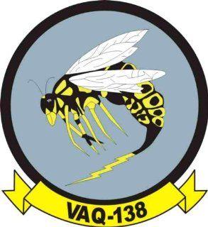 US Navy VAQ 138 Yellow Jackets Squadron Decal Sticker 3.8