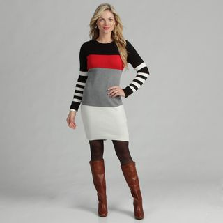 Jessica Howard Womens Colorblock Sweater Dress
