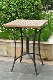 Barcelona 32 inch Square Resin Wicker Outdoor Bar Table