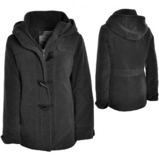 Eight2Nine Fleecemantel Damen im Duffle Coat Style, Damenmantel mit