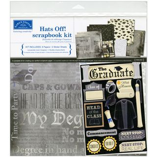 Hats Off Graduation Scrapbook Page Kit 12X12