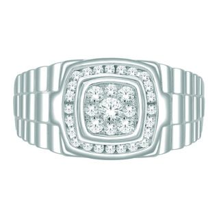 10k White Gold Mens 1/2ct TDW Imperial Diamond Ring (H I, I2 I3