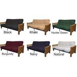 Yosemite Queen Rustic Lodge Frame/ Splendor Mattress Futon Set