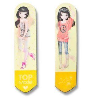 TopModel Lesezeichen mit Wackelbild Model Lin gelb