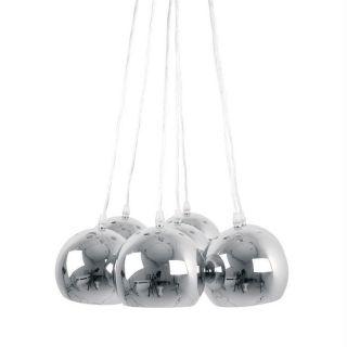 BIG BUNDLE suspension 7 boules métal   Coloris  chromé   Ampoule(s