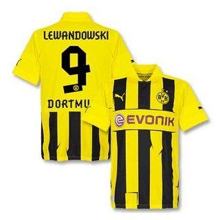 12 13 Borussia Dortmund Champions League Trikot + Lewandowski 9