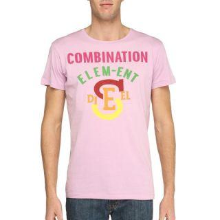 DIESEL T Shirt Plot2 Homme Vieux rose Vieux rose   Achat / Vente T