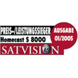 Homecast S 8000 CI PVR Digitaler Twin Satelliten Receiver mit CI