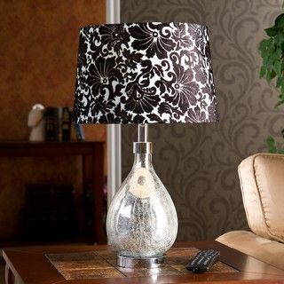Royce 1 light Mercury Glass Table Lamp