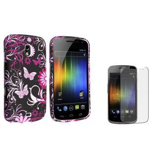 Purple Rubber Case/ Screen Protector for Samsung© Galaxy Nexus i9250