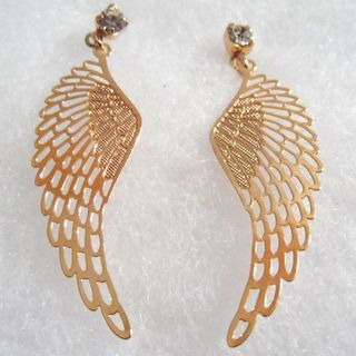 18k Angel Wings Earrings