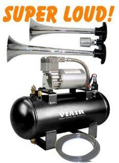 Super Loud Dual Trumpet 140+db Truck Style Air Horn & VIAIR 275c