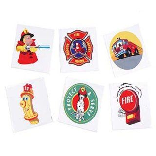 Fireman Temporary Tattoos (144 Pcs): Toys & Games