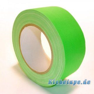 Klebeband Neon Grün 50mm x 25m Gaffa Tape Gewebeklebeband Premium