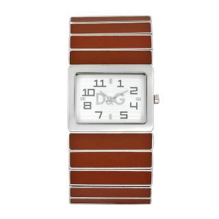Dolce & Gabbana Unisex Passion De Ibiza Brown Leather Accent Watch