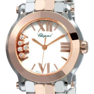 Chopard Womens Happy Sport Two tone Diamond Watch