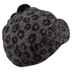 Adi Designs Womens Flower Accent Woven Military Cap
