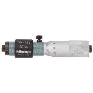 Mitutoyo 133 145 Tubular Vernier Inside Micrometer, 100 125mm Range, 0