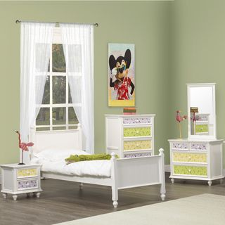 Fantasia White 5pc Bedroom Set   Twin Bed