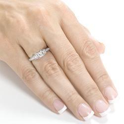 14k White Gold 5/8ct TDW Diamond Engagement Ring (H I, I1 I2