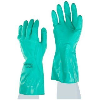 Ansell Sol Vex 37 145 Nitrile Glove, Chemical Resistant, Straight Cuff