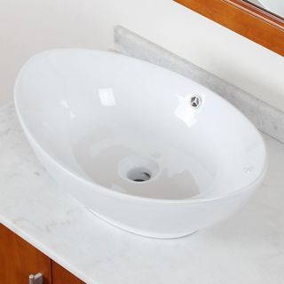 ELITE Model 9948 High Temperature Grade A Ceramic Bathroom Sink