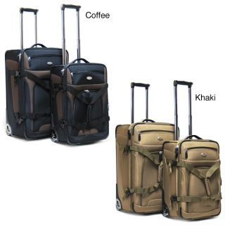 CalPak Journey 2 piece Expandable Checked/Carry On Luggage Set