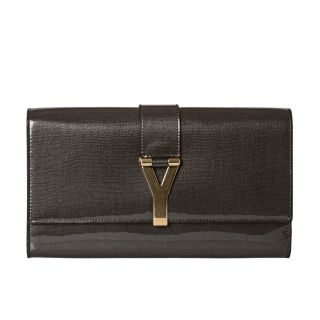 Yves Saint Laurent Chyc Patent Leather Clutch
