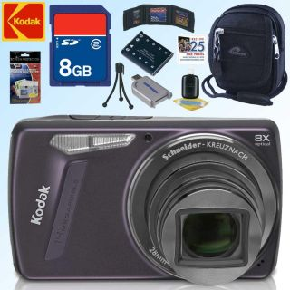 Kodak EasyShare M580 14MP Purple Digital Camera with 8GB Kit