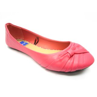 Blue Womens Dope Coral Wrapped Flats