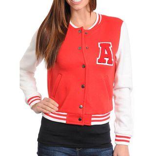 Stanzino Womens Red Varsity Jacket