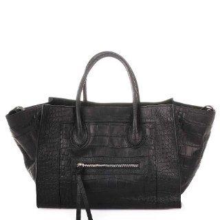 ROUVEN Black Croco MAYDLEN CHYC Tote Shopper Bag Handtasche