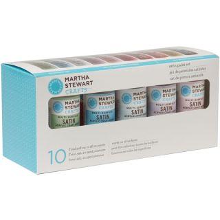 Martha Stewart Satin 10 Color Acrylic Craft Paint Set Today $25.58