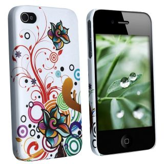 LUXMO White Snap on Rubber Coated Case for Apple iPhone 4/ 4S