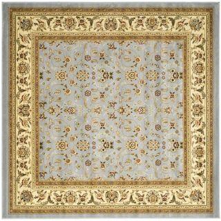Lyndhurst Floral Motif Greyish Blue/ Ivory Rug (4 Square)