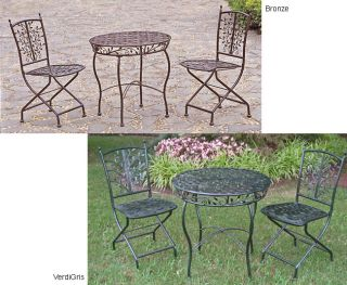 Iron Bistro 3 piece Table and Folding Chair Set Today $241.99 4.4 (7