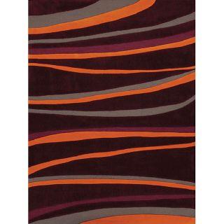 Hand tufted Wavy Stripe Modacrylic Rug (5 x 7)