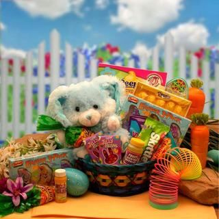 Bunny Hugs Blue Easter Gift Basket
