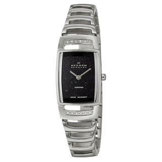 Skagen Womens Stainless Steel White Diamond Watch