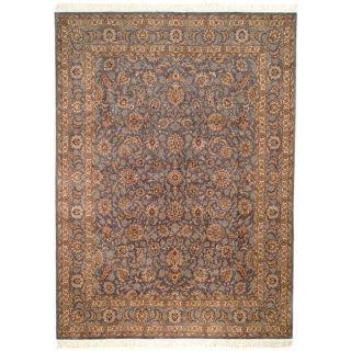 Asian Hand knotted Royal Kerman Lilac Wool Rug (9 x 12)