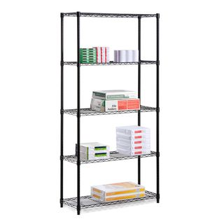 Honey Can Do Industrial 5 tier Black Storage Shelves
