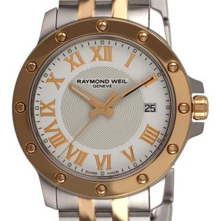 Raymond Weil Mens Tango Two tone White Face Watch