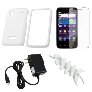 White Case/ LCD Protector/ Charger for Samsung Captivate Glide i927