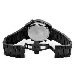 Swiss Legend Mens World Timer Black Ion Plated Chronograph Watch