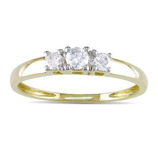 Miadora 14k Gold 1/4ct TDW Round Diamond Ring