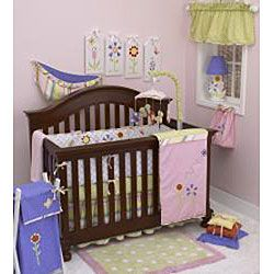 Cotton Tale Spring Fling 8 piece Crib Bedding Set
